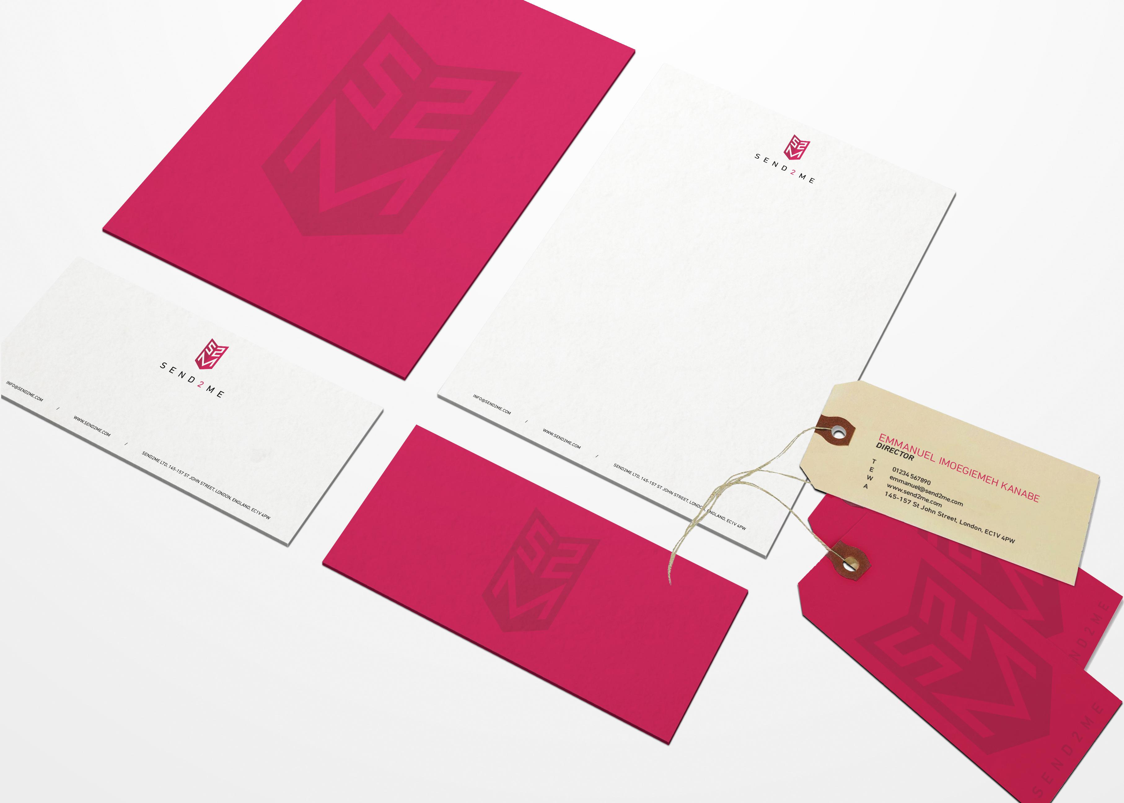 Send 2 Me Branding Mockup