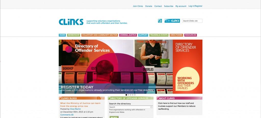 Web homepage mockup